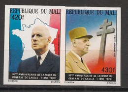Mali - 1980 - PA N°Yv. 401 à 402 - De Gaulle - Non Dentelé / Imperf. - Neuf Luxe ** / MNH / Postfrisch - De Gaulle (Général)