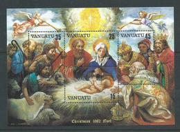 Vanuatu 1982 Christmas Nativity Painting Miniature Sheet MNH - Vanuatu (1980-...)