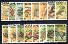 Solomon Islands 1979-83 Reptiles Set With No Imprint Unmounted Mint. - Solomon Islands (1978-...)