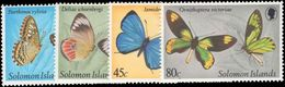 Solomon Islands 1980 Butterflies (1st) Unmounted Mint. - Solomon Islands (1978-...)