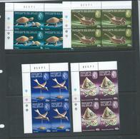 Pitcairn Islands 1980 Handicrafts II Set 4 In Positional Corner Blocks Of 4 MNH - Stamps