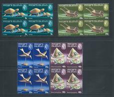 Pitcairn Islands 1980 Handicrafts II Set 4 In Blocks Of 4 MNH - Stamps
