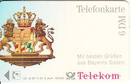 GERMANY - Telekom München(A 38), Tirage 40000, 11/91, Used - A + AD-Series : Publicitarias De Telekom AG Alemania