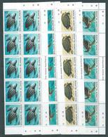 Solomon Islands 1983 Turtles Set 4 In Imprint & Plate Number Blocks Of 10 MNH - Solomon Islands (1978-...)