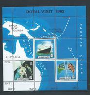 Solomon Islands 1982 Royal Visit Ship & Map Miniature Sheet MNH - Solomon Islands (1978-...)