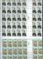 Solomon Islands 1981 Duke Of Edinburgh Awards Set 4 In Fresh Full Sheets 50 Imprint & Plate #'s MNH - Solomon Islands (1978-...)
