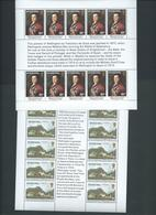 St Helena 1980 Duke Of Wellington Visit Anniversary Set Of 2 Miniature Sheets Of 10 Sets MNH - Saint Helena Island