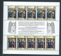 St Helena 1983 Christmas Miniature Sheet Of 5 Sets Of 2 MNH - Saint Helena Island