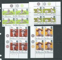 St Helena 1982 Boy Scout Set Of 4 In Plate Number Corner Blocks Of 4  MNH - Saint Helena Island