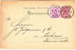 MEMEL Allemand Entier + Timbre Obl En 1881 , Lettre - Memelgebiet