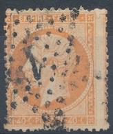 N°23 VARIETE FILET PIQUAGE NUANCE ET OBLITERATION. - 1862 Napoleon III