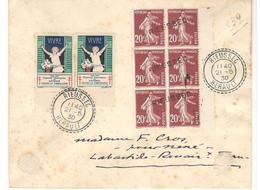 16928 - RIEUSSEC Cad Type FB 84 Et Linéaire - Marcophilie (Lettres)
