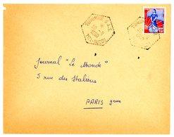 ALGERIE ENV 1960 TIDMIMINE TIZI-OUZOU SECTION ADMINISTRATIVE SPECIALISEE LETTRE AVION - Algérie (1924-1962)