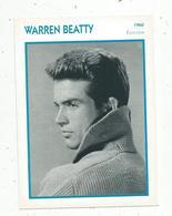 Photographie, Portrait De STARS, Cinéma ,acteur , Warren BEATTY ,1960,  Photo Cinemagence , 2 Scans ,fiche Descriptive - Personalità