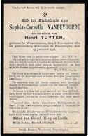 Westvleteren, Poperinge, 1923, Sophia Vandevoorde, Tuyten, - Devotieprenten