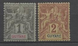 Guyane   N° 30  Et 31  Neufs   *       B/TB ....... Soldé à Moins De  20 % ! ! ! - Unused Stamps