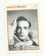 Photographie, Portrait De STARS, Cinéma ,acteur , Marlon BRANDO ,1955 ,  Photo Koball , 2 Scans ,fiche Descriptive - Personalità