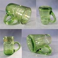 ~ VERRE EMAILLE A LIQUEUR - Vert Vin Vigne Alcool - Glass & Crystal
