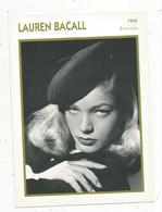 Photographie, Portrait De STARS, Cinéma ,actrice,  Lauren BACALL ,1945 ,  Photo Koball , 2 Scans ,fiche Descriptive - Personalità