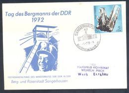 Germany DDR 1972 Cover: Minerals Mineralien Mineraux; Mine; Mein; Gips Eisleben; Berbmanns - Mineralien