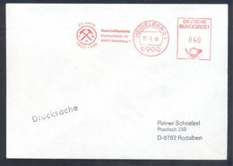 Germany DDR 1980 Cover: Minerals Mineralien Mineraux; Mining Bergbau Heildelberg Meter EMA Freistempel - Mineralien