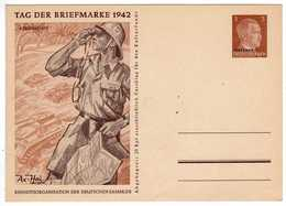 Allemagne :III Reich : Tag Der Briefmarke 1942 - Journée Du Timbre ( Entier Postal ) - Timbres (représentations)