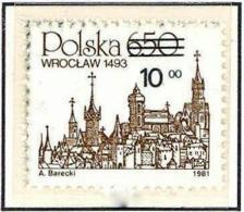 Polonia. Poland. 1982. Mi 2817. Polish Towns. Wroclaw. 1493. Churches - 1944-.... República