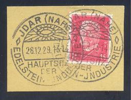 Germany Deutsches Reich 1929 Cancellation Minerals Mineralien Mineraux; Mining Bergbau Idar - Edelstein; Gem - Mineralien
