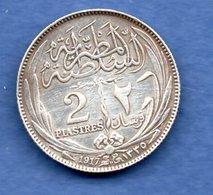 Egypte  -2 Piastres 1917 -  Km # 317.1 -  état   TTB - Egypte