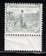 France 1917 Yvert 150 ** TB Bord De Feuille - France