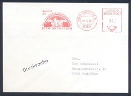 Germany 1980 Cover  Minerals Mineralien Mineraux; Mines Bergbau; Idar Edelstein Gem; Meter Ema Freistempel - Mineralien