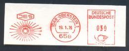 Germany 1976 Cancellation:  Minerals Mineralien Mineraux; Mines Bergbau; Idar Edelstein Gem; Meter Ema Freistempel - Minerals