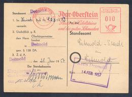 Germany 1981 Card:  Minerals Mineralien Mineraux; Mines Bergbau;Idar Oberstein ; Edelstein Gem; Meter EMA Freistempel - Mineralien