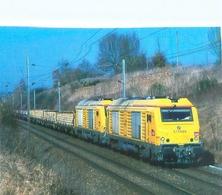 Saint Saturnin - Un Train De Traverses Approche Du Mans - Tracté Par Deux BB 75000 INFRA Sncf U 1455 - Trains