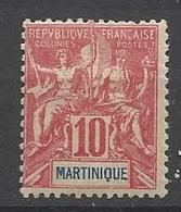 Martinique N°45     Neuf *   B/TB    Soldé  à Moins De  20  % ! ! ! - Martinique (1886-1947)