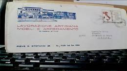 PIEVE SANTO STEFANO AREZZO DITTA LAVORAZIONE ARTIGIANA MOBILI MOBILIFICIO PIFFER VB1970 50 LIRE UNIONE ROMA ITALI HC9351 - Arezzo