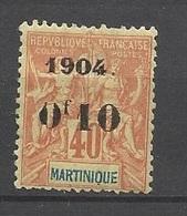 Martinique N°55     Neuf *   B/TB    Soldé  à Moins De  20  % ! ! ! - Ungebraucht