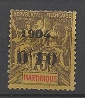 Martinique N°57     Neuf *   B/TB    Soldé  à Moins De  20  % ! ! ! - Martinique (1886-1947)