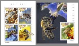 GUINEA BISSAU 2019 MNH Bees Bienen Abeilles M/S+S/S - OFFICIAL ISSUE - DH1916 - Abejas