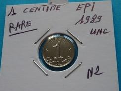 RARE ***  1 CENTIME EPI 1989 Unc - France
