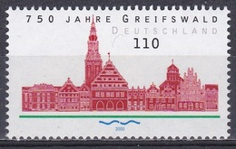 Deutschland Germany 2000 Architektur Architecture Bauwerke Buildings Städte Stadt Towns Greifswald, Mi. 2111 ** - Neufs