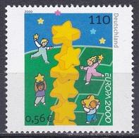 Deutschland Germany 2000 Organisation Postwesen Europa CEPT Sternenturm Stars Towers Kinder Children, Mi. 2113 ** - BRD