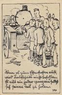 Ansichtskarte: Soldaten Bei Essensausgabe, 1945, Reutlingen Nach Karschenreuth - Ocupación 1938 – 45