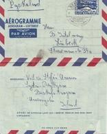 Island: 1955 Aerogramme-Ganzsache Nach Lübeck - Island