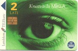 Yeux Oeil  Télécarte Lituanie Phonecard  Jeu Mots Croisés (D 503) - Lituanie
