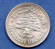 Liban - 50 Piastres 1952 - Km # 17 -   état   SUP - Liban