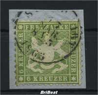 WUERTTEMBERG 1862 Nr 23 Gestempelt Bfst ME 200.- (74939) - Wuerttemberg