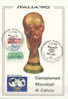 ITALIA - FDC MAXIMUM CARD 1989 - MONDIALI DI CALCIO - SPORT - ANNULLO SPECIALE - Cartoline Maximum