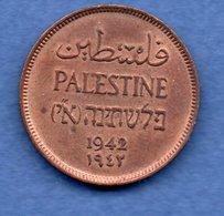 Palestine - 1 Mil 1942  - Km # 1 -   état   SUP - Coins