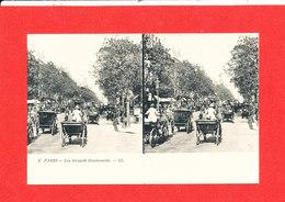 75 PARIS Cpa Stéréoscopique Animée Les Grands Boulevards         6 LL - France